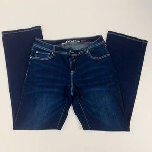 INC Denim Jeans Size 8 Embellished Stretch Boot